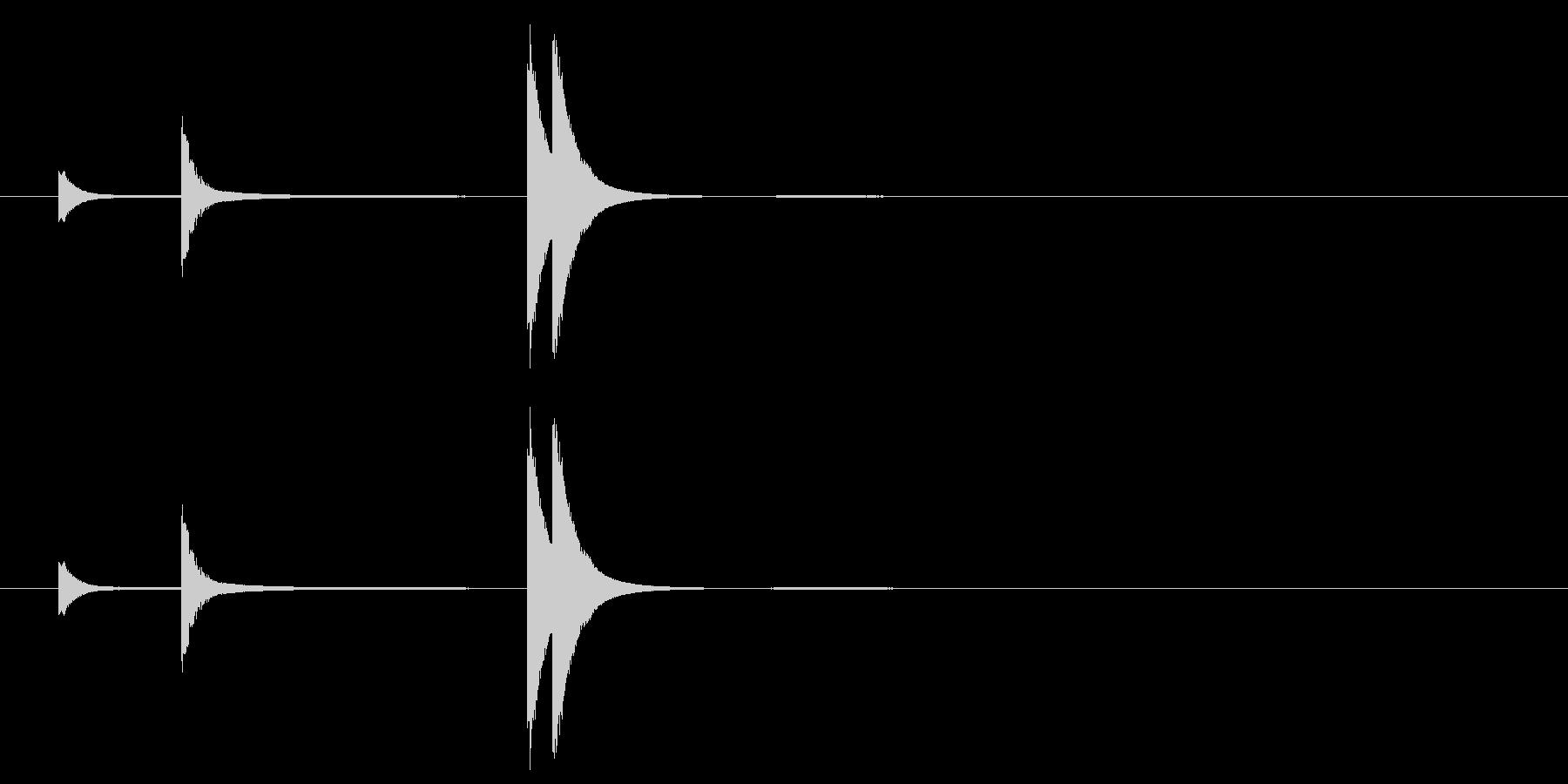 素朴な風鈴の音#1の未再生の波形
