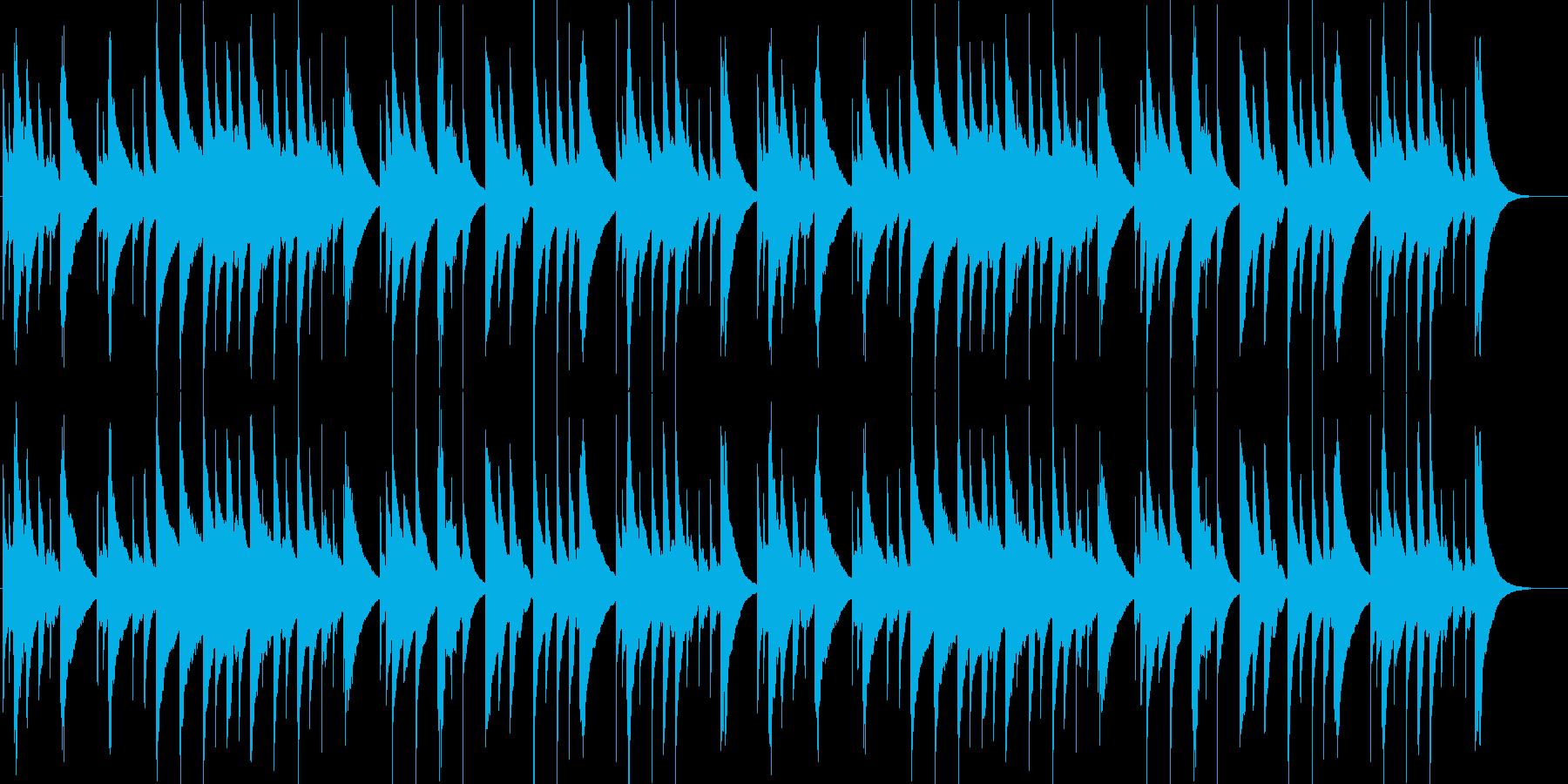 回想シーンをイメージした優しいオルゴールの再生済みの波形