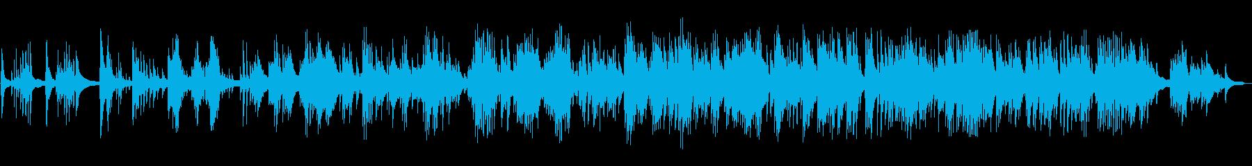 静かで孤独的なピアノソロの再生済みの波形