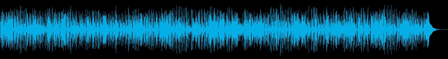 ほのぼのとした生演奏フォークギターデュオの再生済みの波形