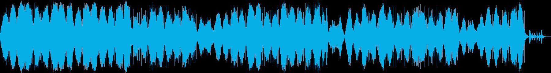 ダークで幻想的、憂鬱なアンビエントシンセの再生済みの波形