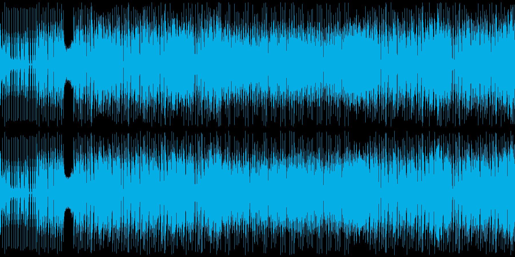 loop ポップなjersey clubの再生済みの波形