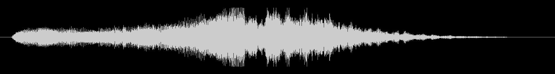 シンプルで深く高級感のあるサウンドロゴの未再生の波形