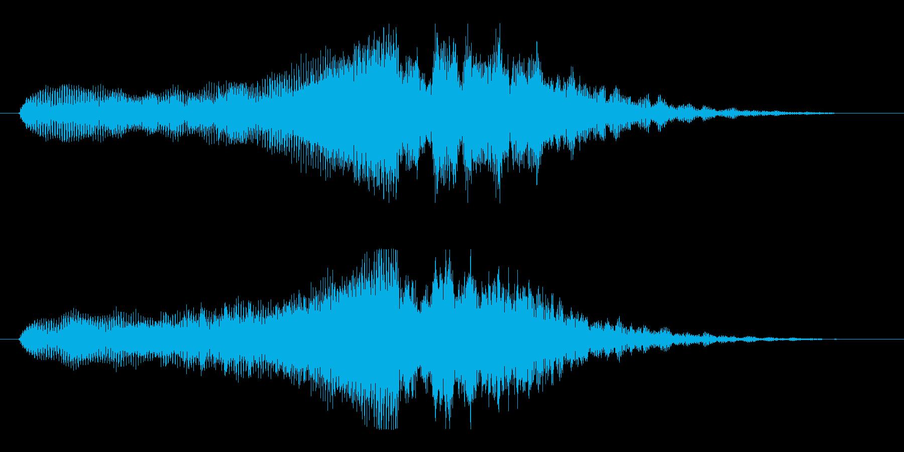 シンプルで深く高級感のあるサウンドロゴの再生済みの波形