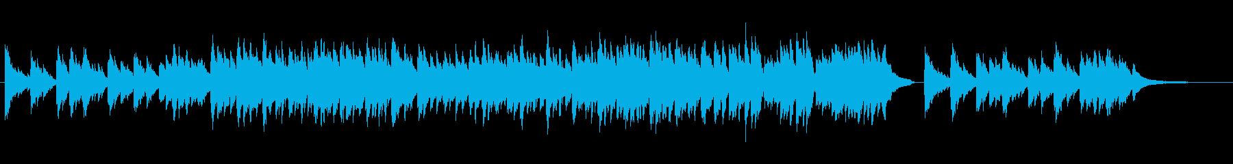 舞い散る桜をイメージしたピアノ小品の再生済みの波形