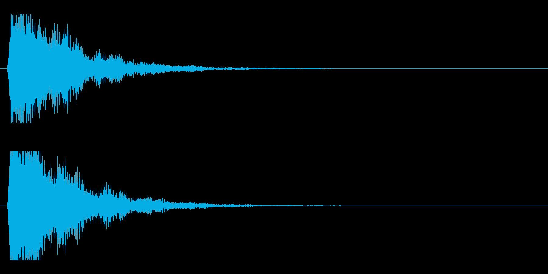 レーザー音-48-2の再生済みの波形
