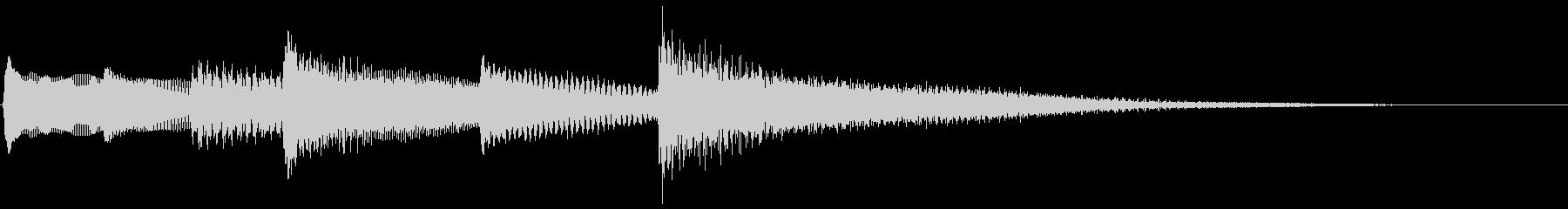 【生演奏】少し荘厳なピアノジングルの未再生の波形