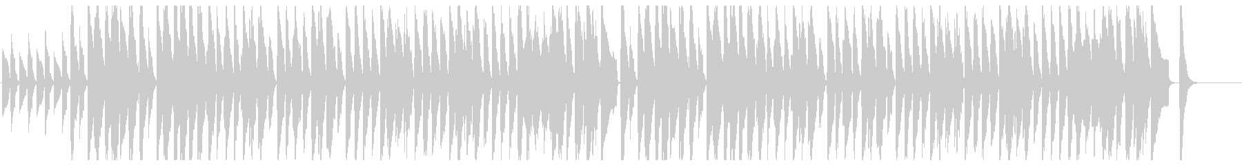 鉄琴とピアノの少しメルヘンで弾んだ曲の未再生の波形