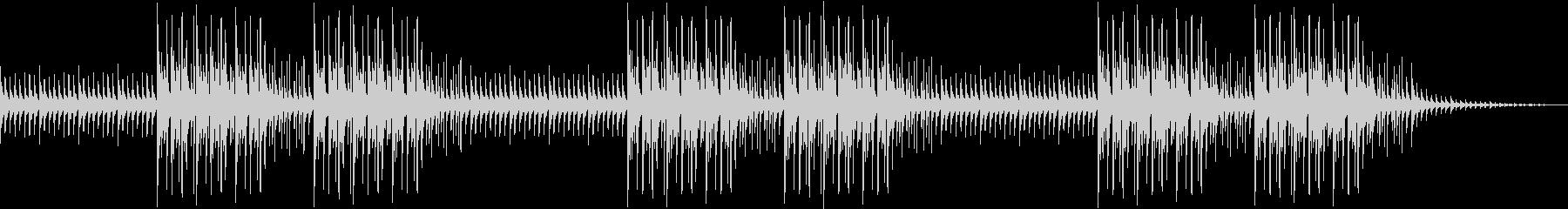 琴の旋律が生み出すオリエンタルなビートの未再生の波形