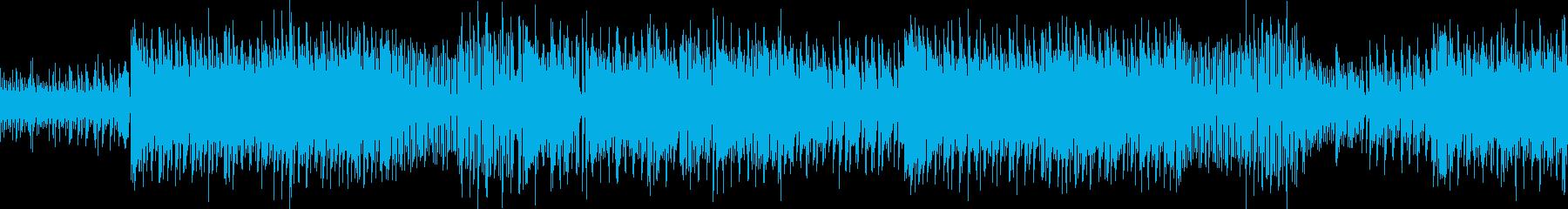 レトロゲームをイメージ EDM風 ループの再生済みの波形