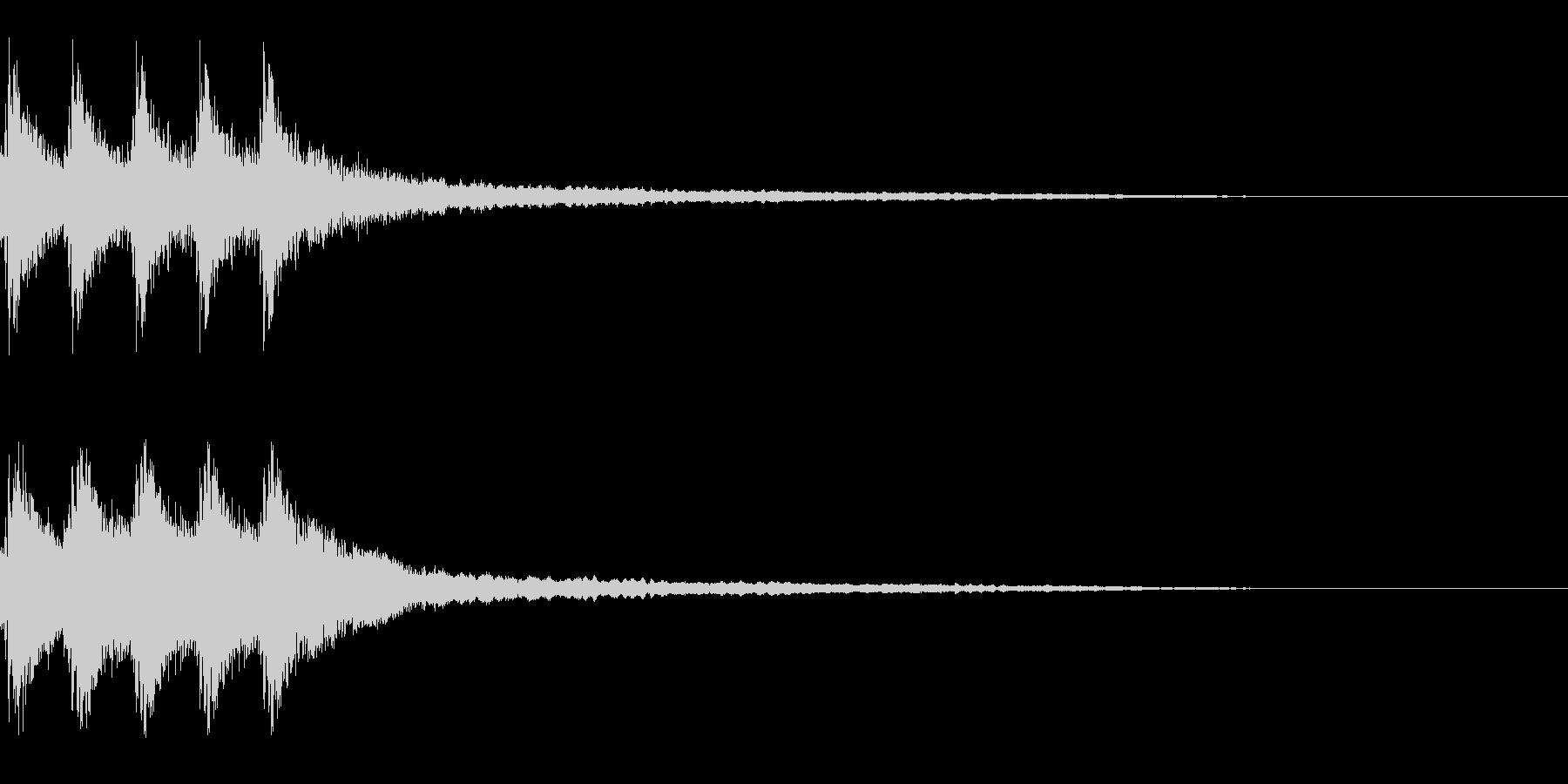 クリスマス 鐘をガラガラ振る の未再生の波形