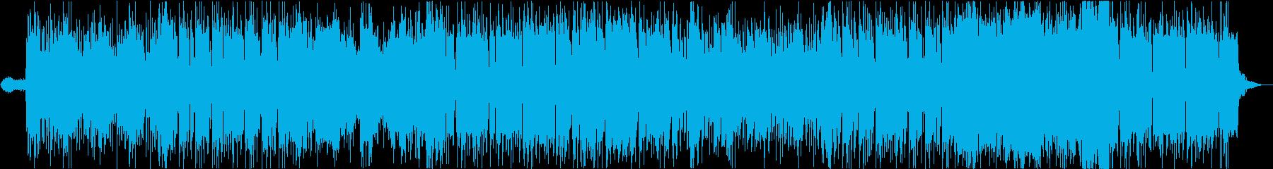 骨太ベースのスタイリッシュな曲の再生済みの波形