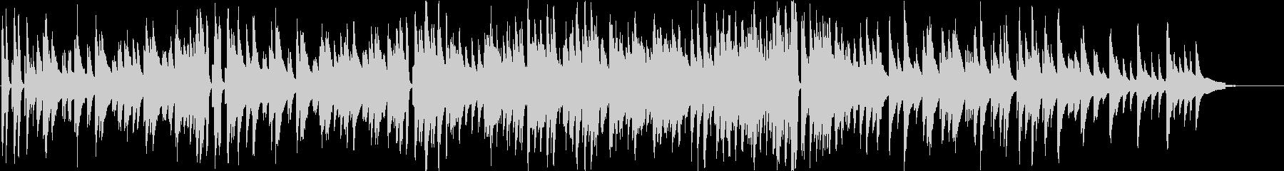 ピアノメインの落ち着いたジャズの未再生の波形