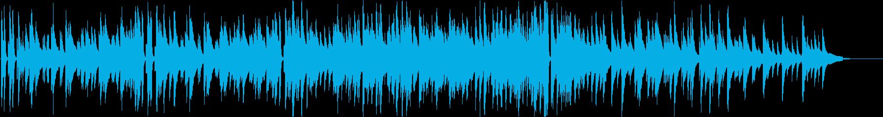 ピアノメインの落ち着いたジャズの再生済みの波形