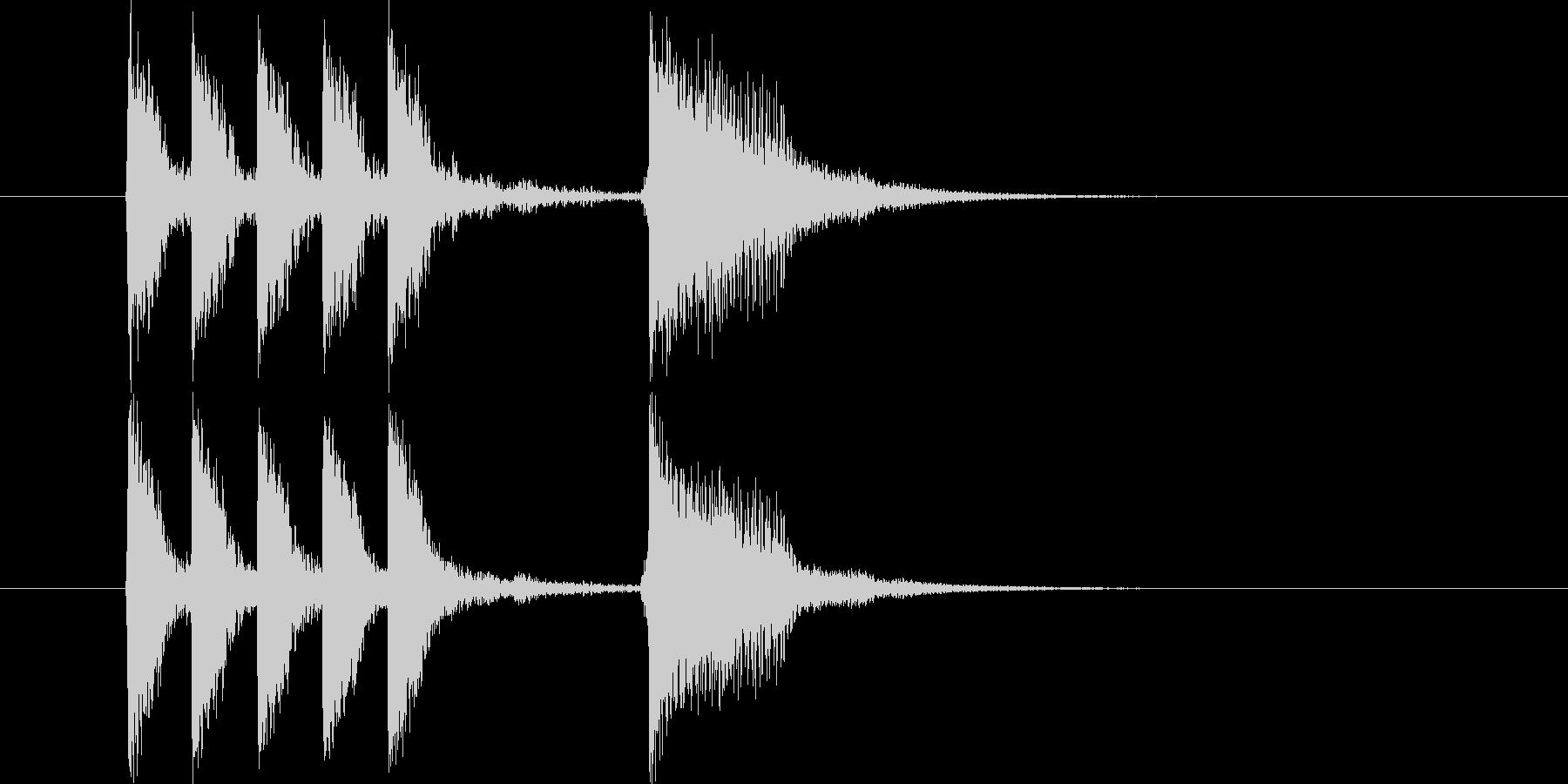 明るいバンドサウンドによるジングル曲の未再生の波形