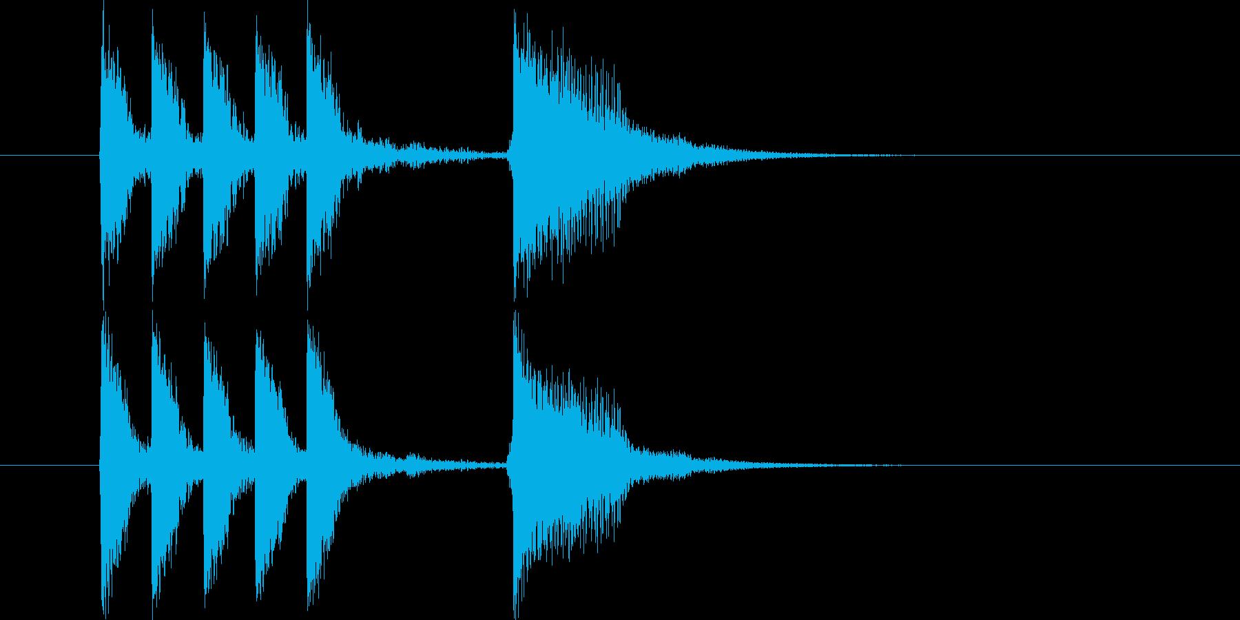 明るいバンドサウンドによるジングル曲の再生済みの波形
