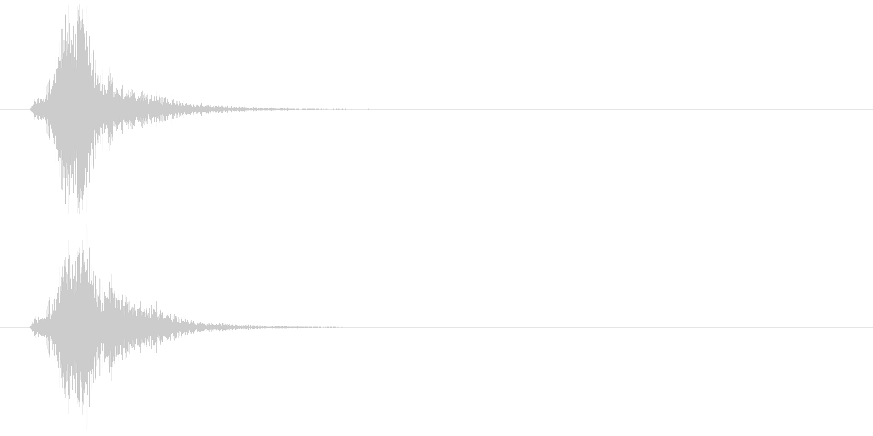 高速移動_高速射出の未再生の波形