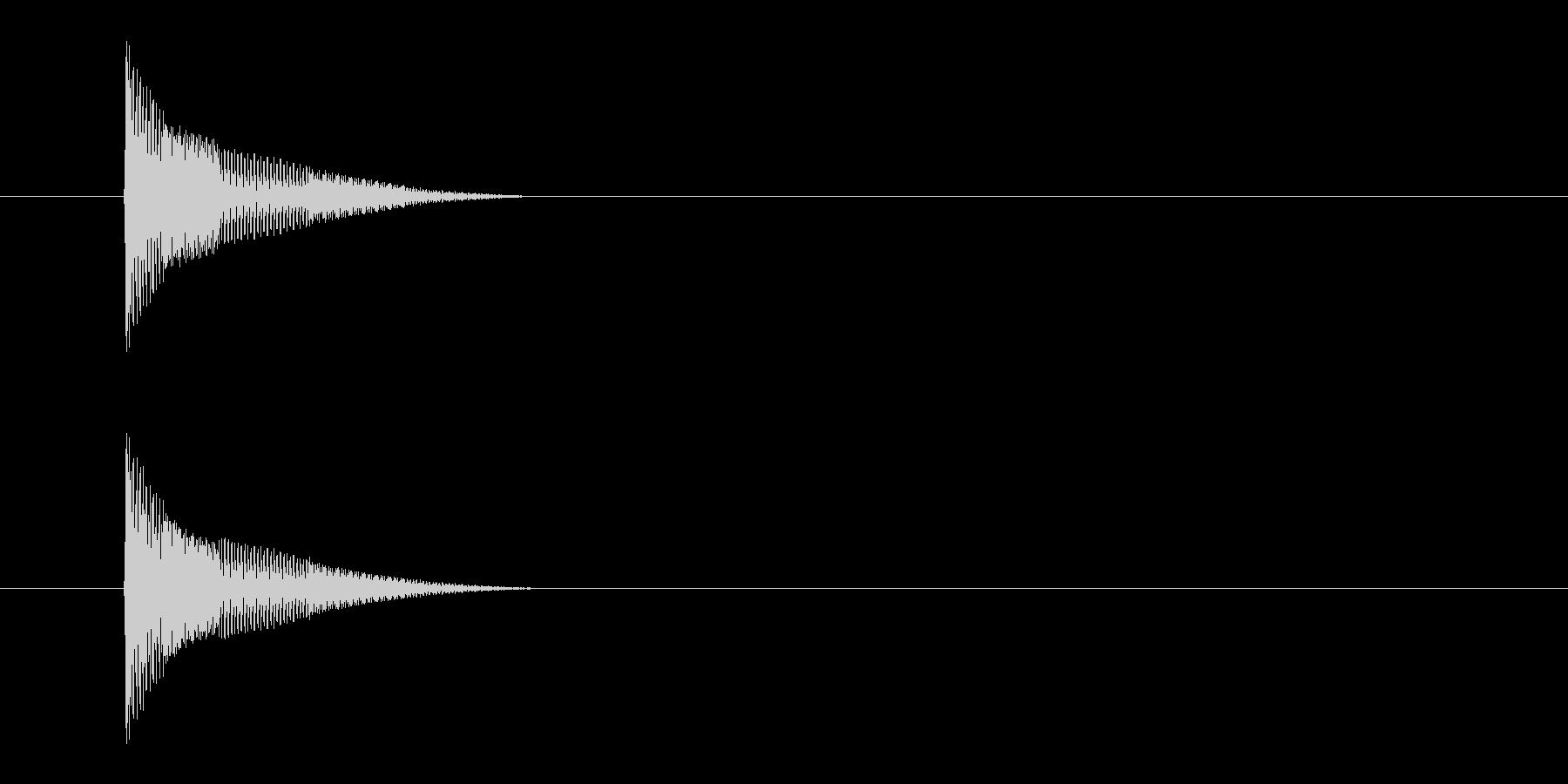 ポンッ (ボタンタップ音)の未再生の波形