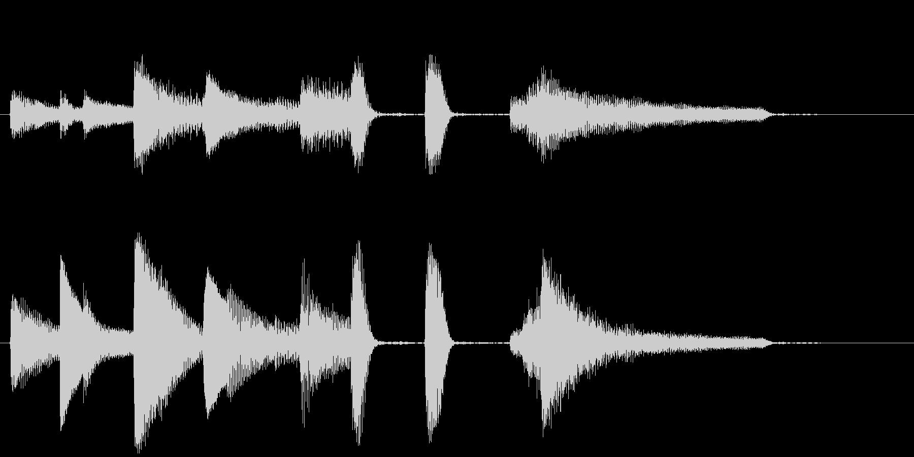 短い ピアノサウンドロゴ_ジングル5秒の未再生の波形