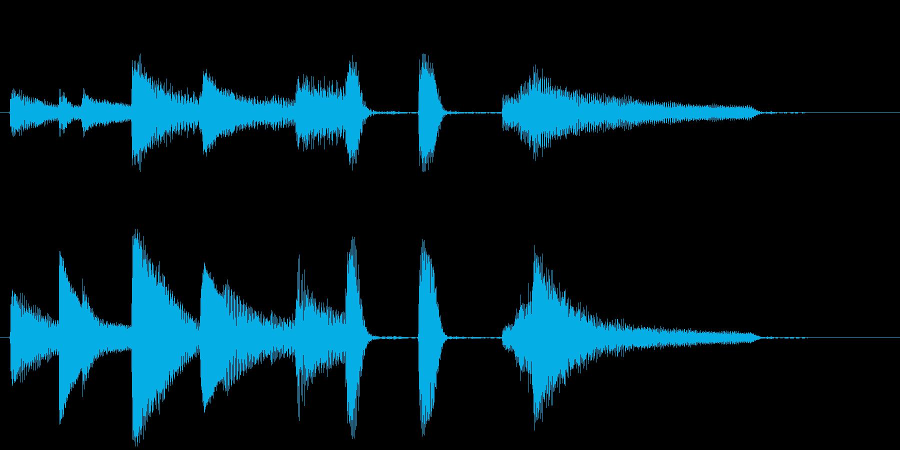 短い ピアノサウンドロゴ_ジングル5秒の再生済みの波形