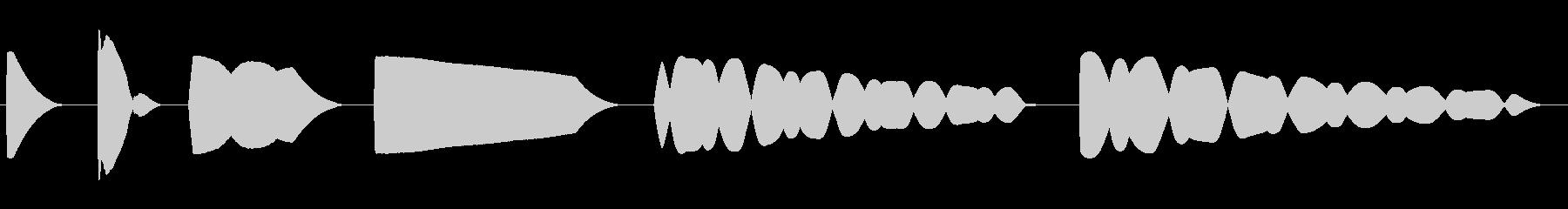 トーン、パンニング、シグナル、FA...の未再生の波形