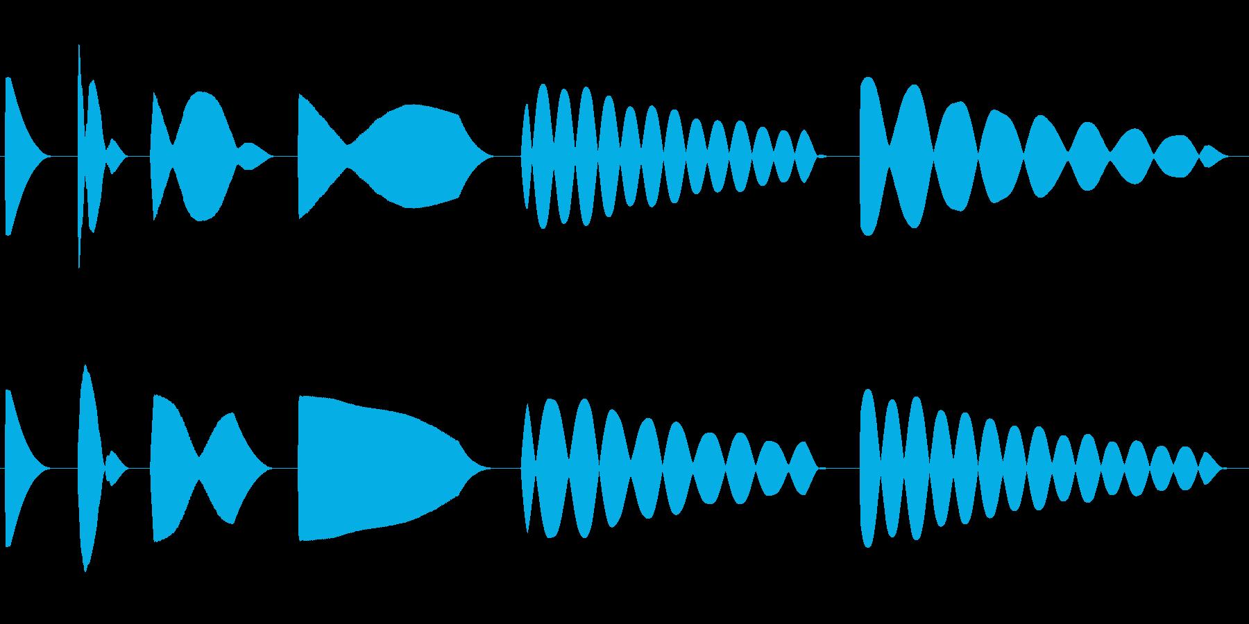 トーン、パンニング、シグナル、FA...の再生済みの波形