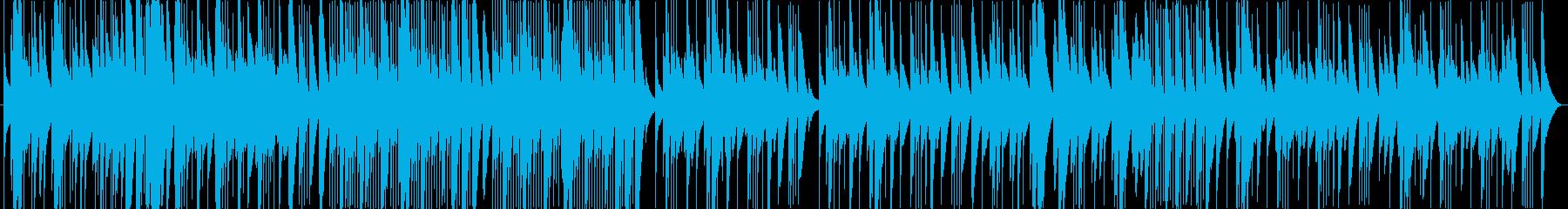 木琴(マリンバ)のとぼけた感じの曲の再生済みの波形