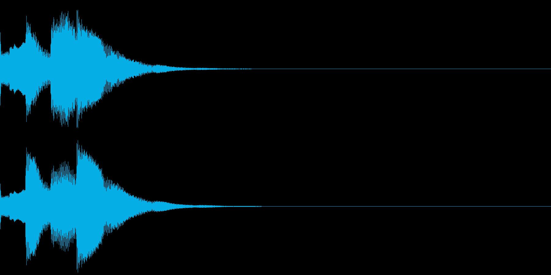 ニュース/テロップ/お知らせ通知音A2の再生済みの波形