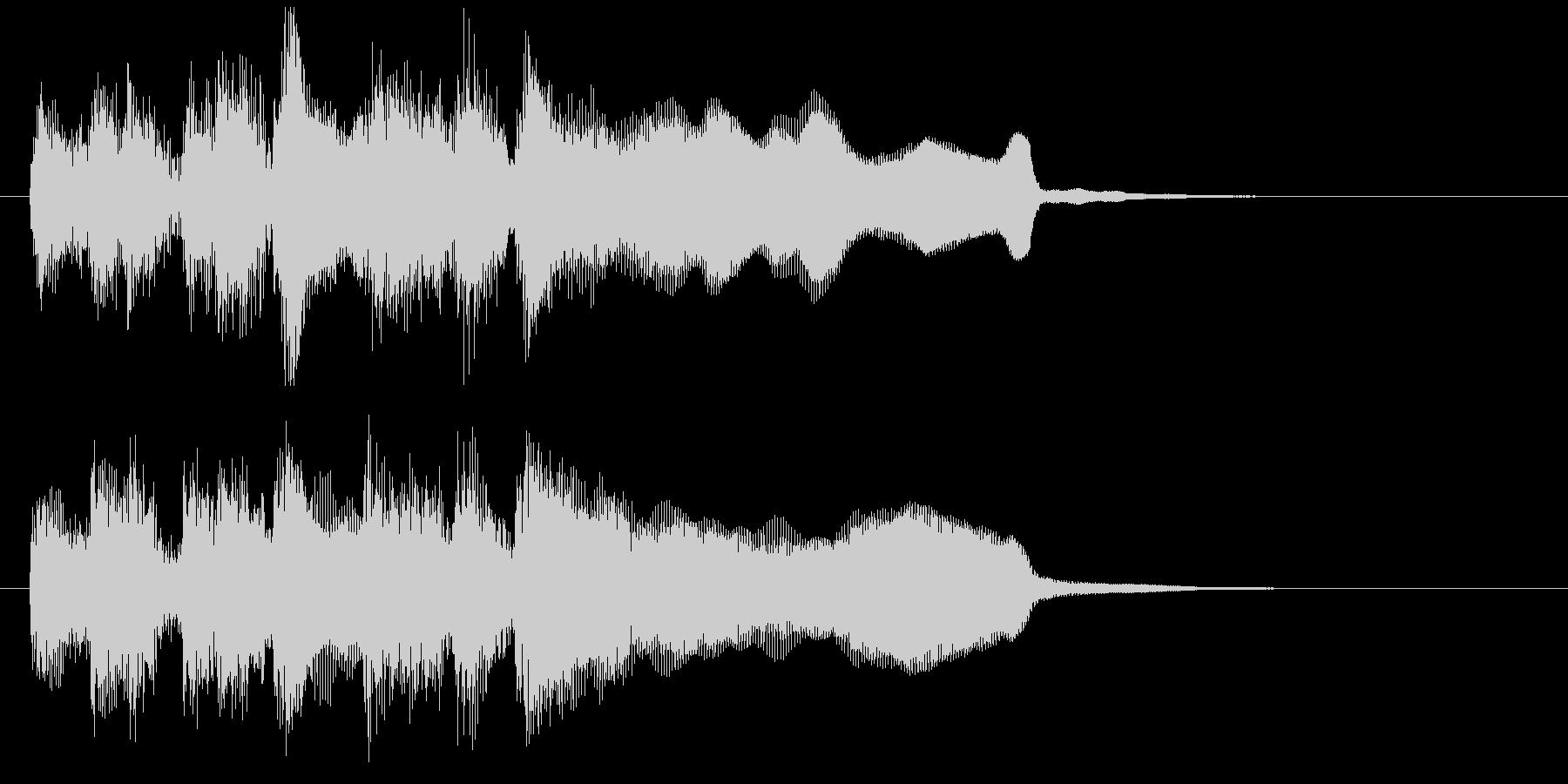 レベルアップのジングル、サックスとブラスの未再生の波形
