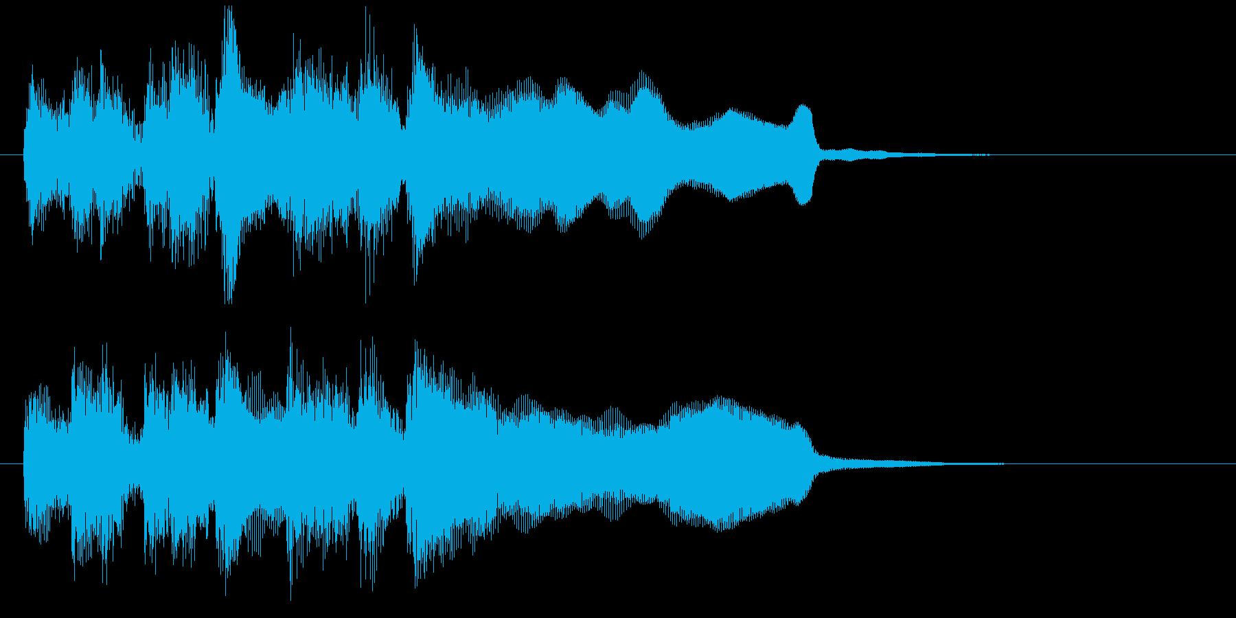 レベルアップのジングル、サックスとブラスの再生済みの波形