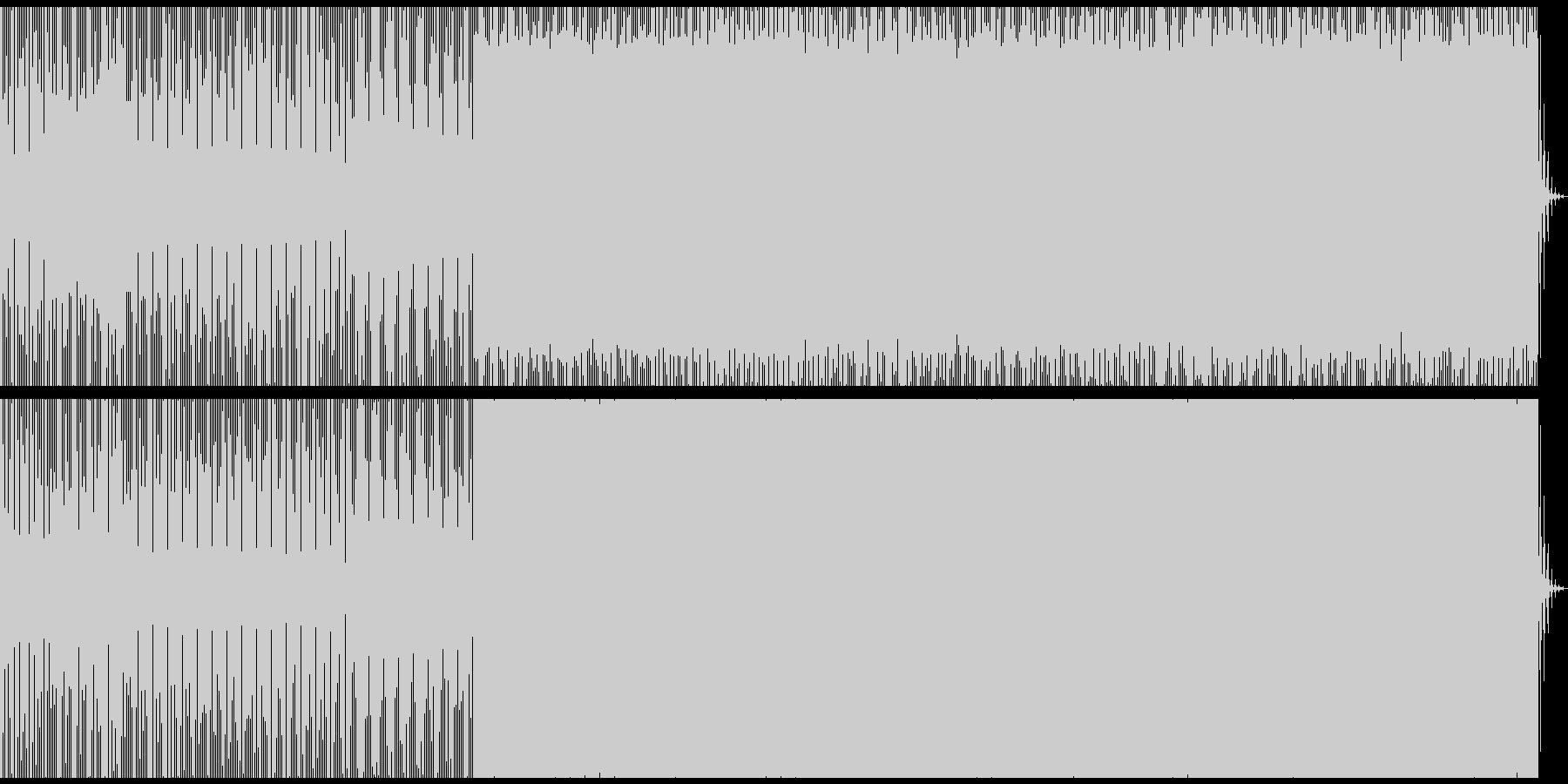 noiseDeepDub minimalの未再生の波形