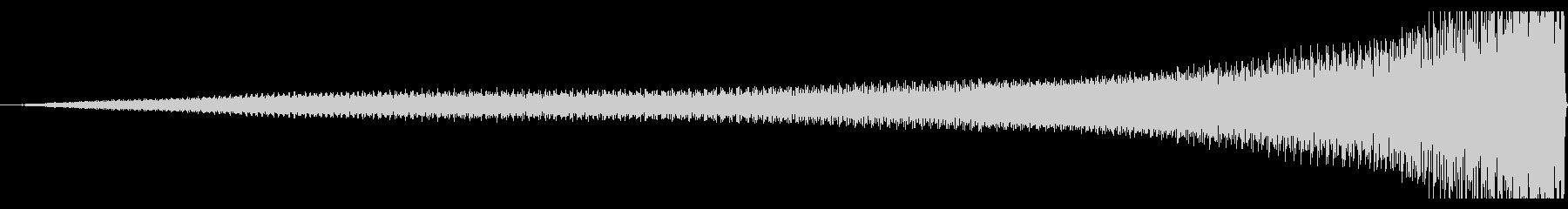 【迫る音】ピアノのリバース音の未再生の波形
