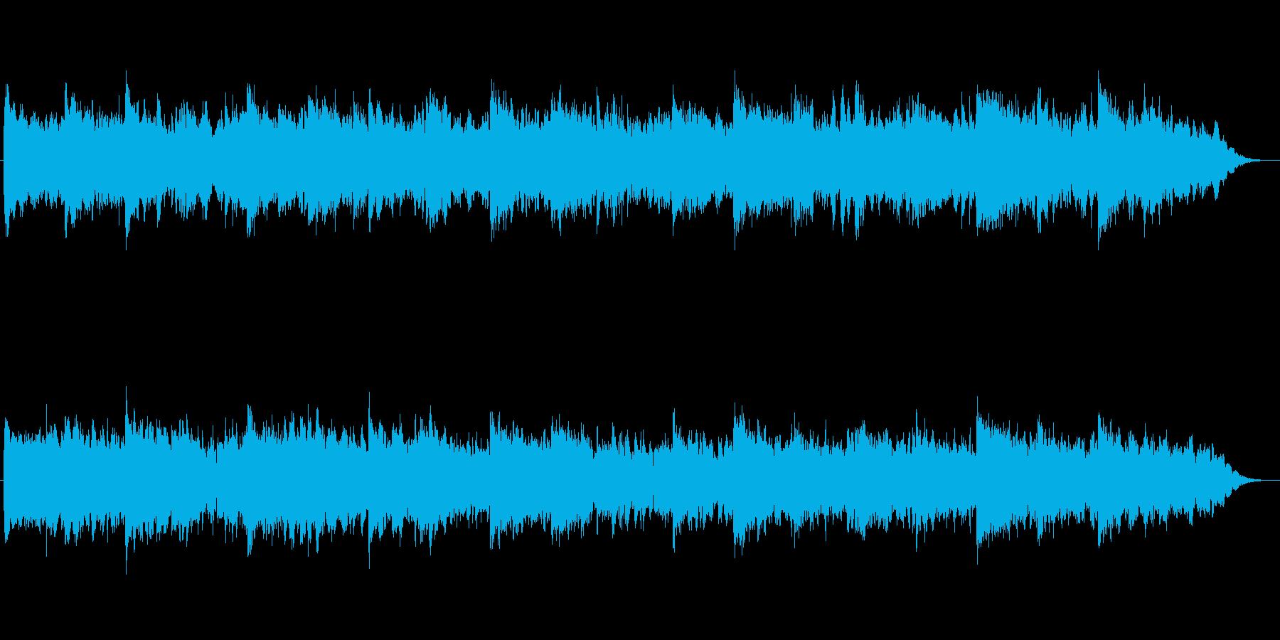 和楽器を使った和風幻想曲の再生済みの波形