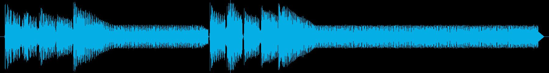 レトロゲームジングル:サスペンス、事件の再生済みの波形