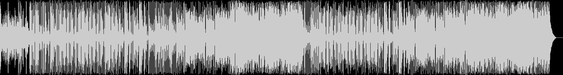 軽快な和風テイストBGMの未再生の波形