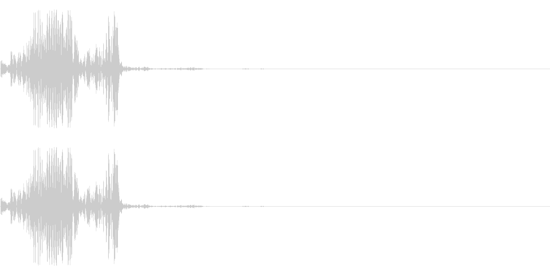 ズボニュの未再生の波形