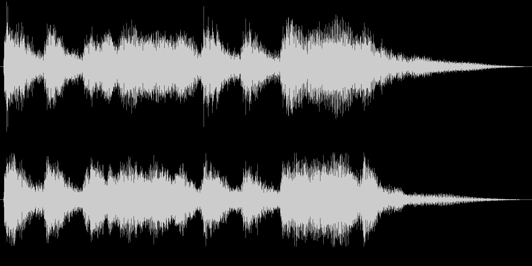 クラシックなイベント達成音ジングル1の未再生の波形
