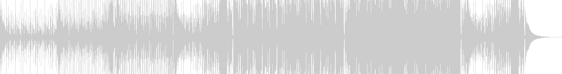 シンプルなベースハウスの未再生の波形