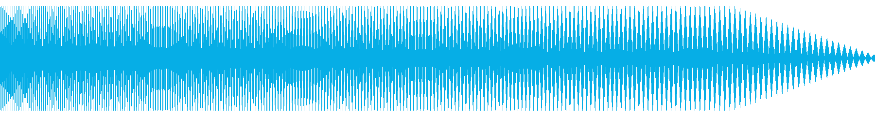 ハリウッド映画でよく聞く低音の効果音2の再生済みの波形