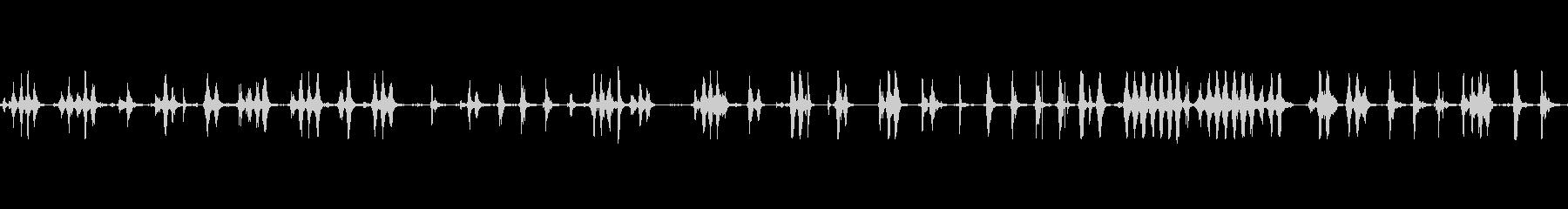 ホイップケーブルの重いスピン、の未再生の波形