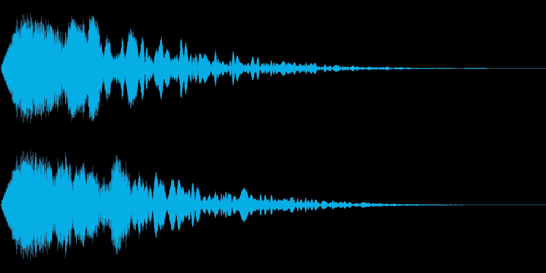 シャキーン!(勢いのあるインパクト音)の再生済みの波形