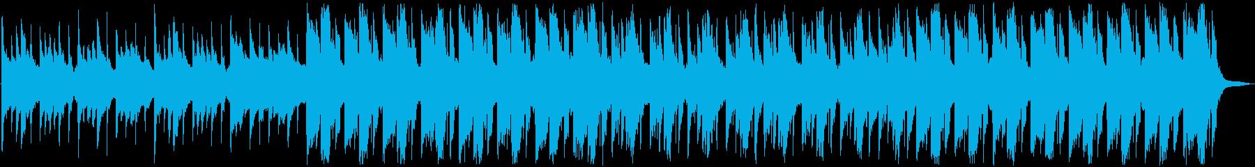 ゆったりとした和風な楽曲の再生済みの波形
