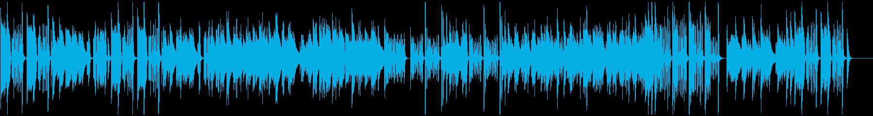 コミカルにめまぐるしく展開するピアノの再生済みの波形