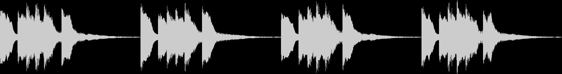 シンプル ベル 着信音 チャイム B12の未再生の波形