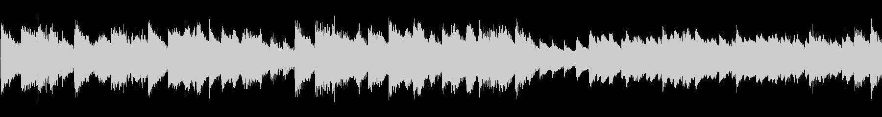 強弱の激しいタッチのソロピアノの未再生の波形
