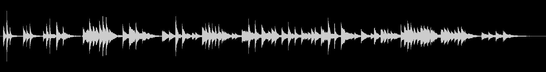 ピアノソロによる幻想的なワルツの未再生の波形