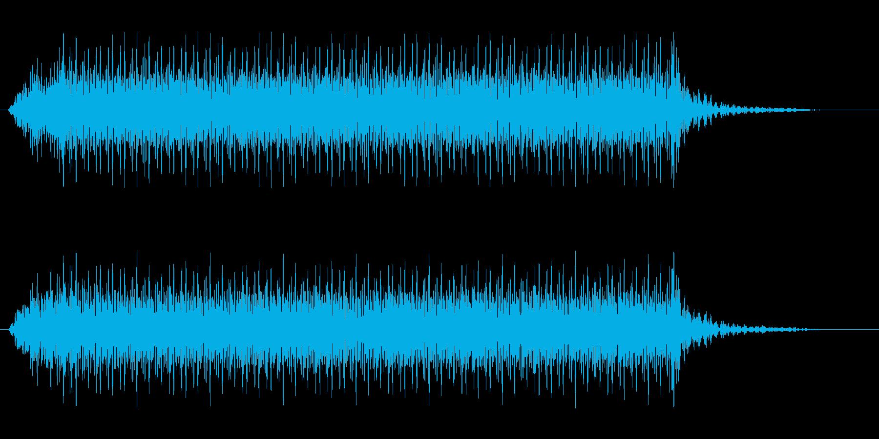ミシンで縫っている音(ウィーン)の再生済みの波形