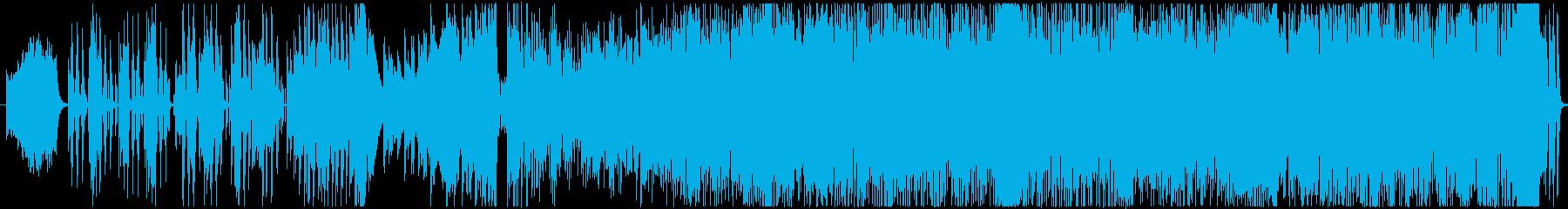 ブルースでかわいい曲の再生済みの波形