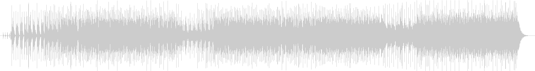 沢山の音とピアノのフレーズが交差する曲の未再生の波形