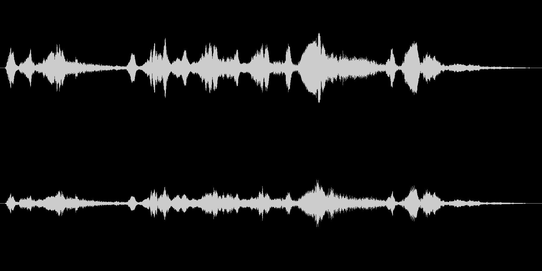 シンセ 巨大な歪みシーケンス03の未再生の波形